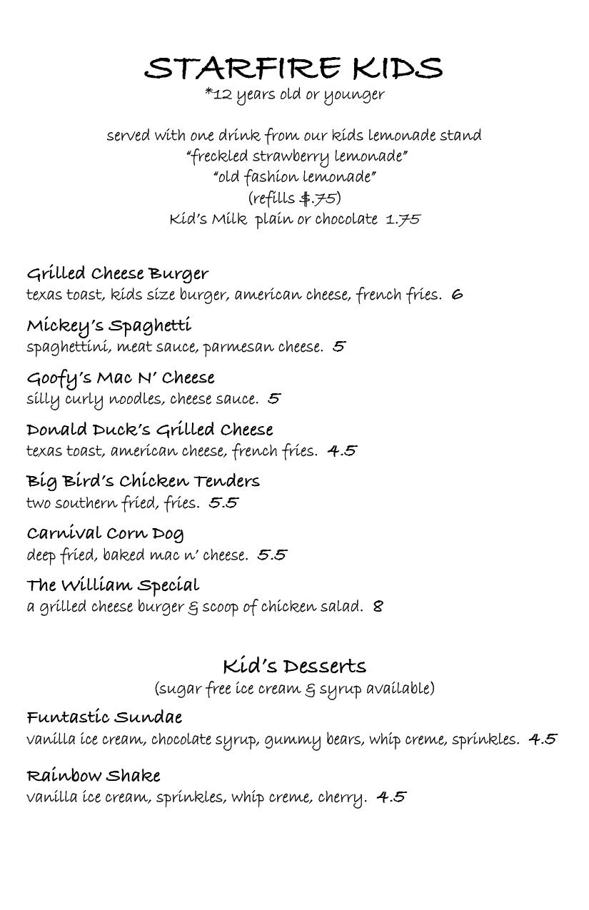 White Chocolate Grill Menu : Halflifetr.info